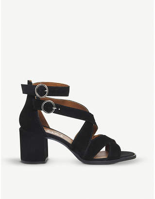 Office Market suede block heel sandals