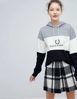Fred Perry Wreath Logo Panel Hoodie