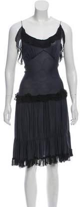 Balenciaga Silk Ruffle-Trimmed Dress