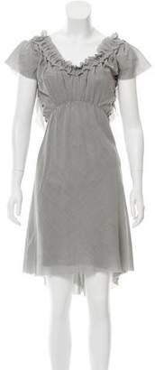 David Szeto Wool-Blend Midi Dress