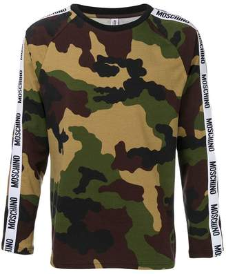 Moschino military printed sweatshirt