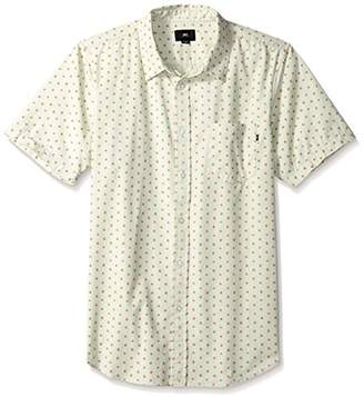 Obey Men's Dorian Short Sleeve Button UP Woven