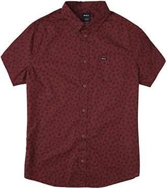 RVCA Men's VU Print Short Sleeve Woven Shirt