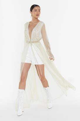 Nasty Gal Womens Runaway With Me Bridal Open Dress - White - 10
