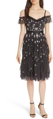 Needle & Thread Lustre Cold Shoulder Dress