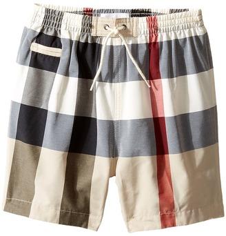 Burberry Kids - Saxon Swim Trunk Boy's Swimwear $85 thestylecure.com
