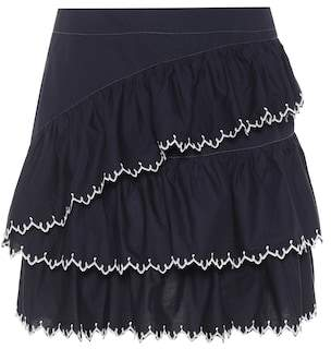 Ella embroidered cotton skirt