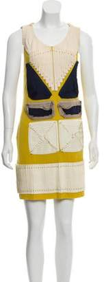 3.1 Phillip Lim Sleeveless Mini Dress Yellow Sleeveless Mini Dress