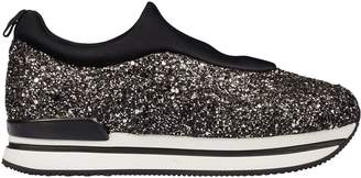 Hogan Glitter Slip-on Platform Sneakers