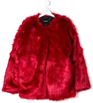 Andorine TEEN oversized faux fur coat