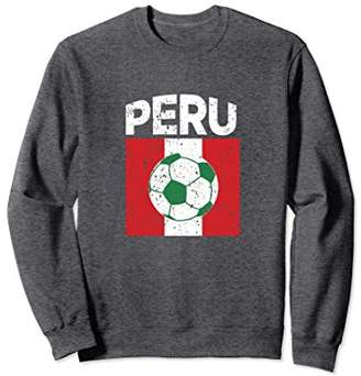 Peru Soccer 2018 T Shirt Men Peruvian Flag Football Fan