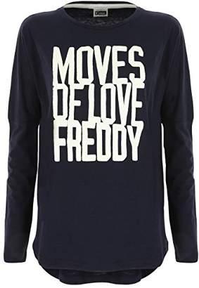 Freddy Women's F8wclt4 Long Sleeve Top, (Night Blue B940), (Size: X-)
