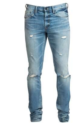 f3f75425ee897c PRPS Windsor Skinny-Fit Stretch Light Wash Knee Rip Jeans
