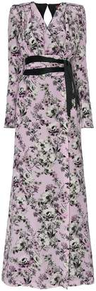 Ronald Van Der Kemp silk floral wrap dress