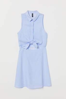 H&M Sleeveless Viscose Dress - Blue