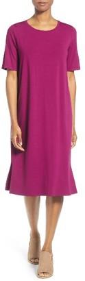 Women's Eileen Fisher Midi Shift Dress $198 thestylecure.com