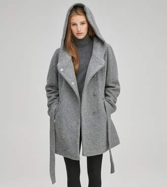 Andrew Marc FLAIR SHAWL COLLAR WOOL COAT