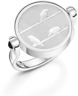 Blush & Bashful - Birds On A Wire Signet Ring