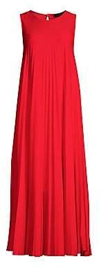 Max Mara Women's Oggetti Sleeveless Pleated Maxi Dress