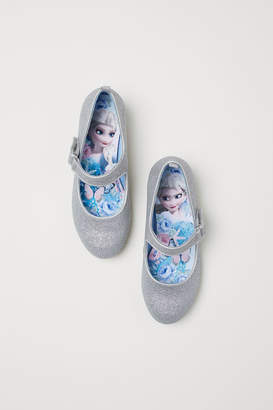 H&M Glittery Dress-up Shoes - Silver