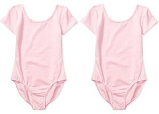 Danskin Girls' Short Sleeve Dance Leotards 2-Pack Set