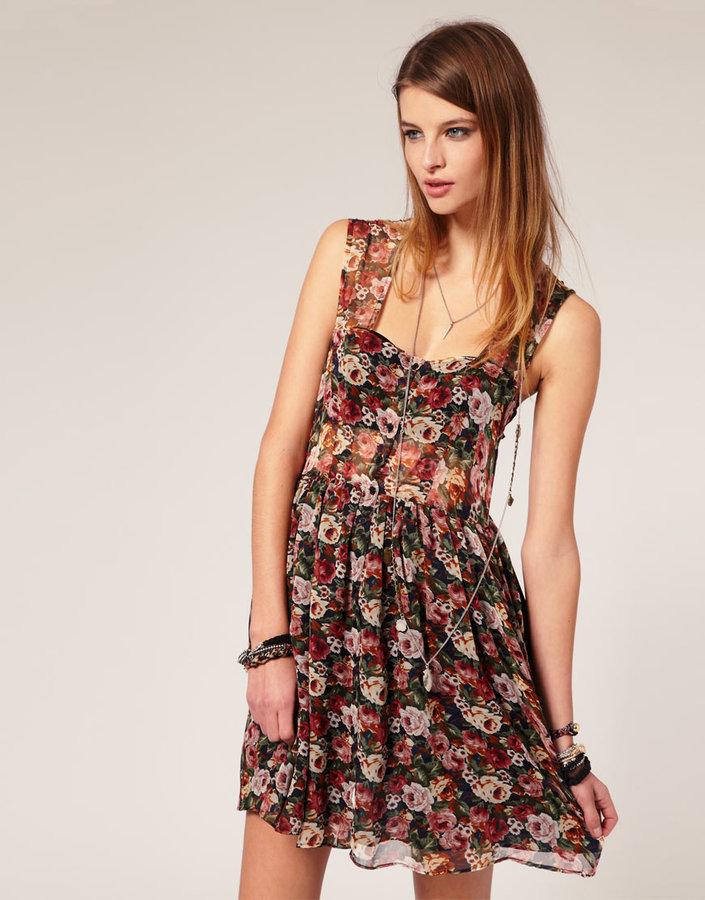 The Reformation Farrah Floral Dress