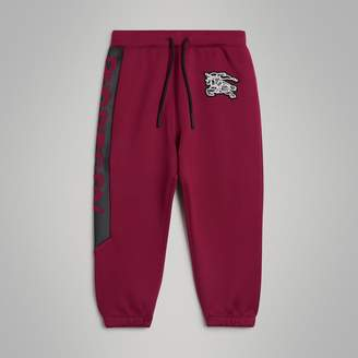 Burberry Graffiti Print Jersey Sweatpants , Size: 8Y