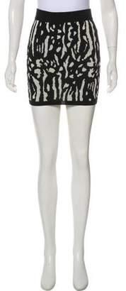 Pam & Gela Wool Intarsia Reversible Skirt