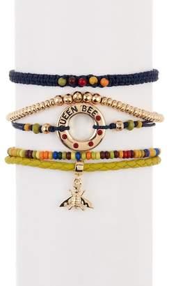 Free Press Queen Bee Bracelet Gift Box - Set of 5