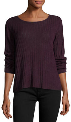 Eileen Fisher Alpaca-Blend Ribbed Box Top $158 thestylecure.com