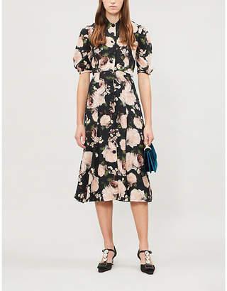 Erdem Gisella floral-print silk midi dress