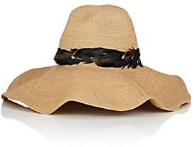 FILUHATS Women's Mauritius Straw Sun Hat-Black