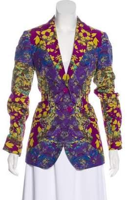 Etro Abstract Print Silk-Blend Blazer