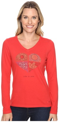 Life is Good® Four Seasons Heart Long Sleeve Crusher Vee $30 thestylecure.com