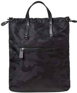 Valentino Nylon Jaquard Camo Tote Bag