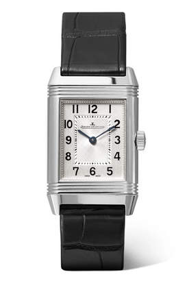 Jaeger-LeCoultre Reverso Classic Small 21mm Stainless Steel And Alligator Watch - Silver