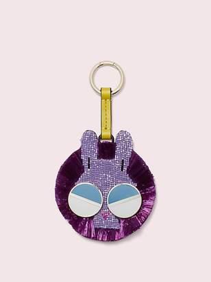 Kate Spade Spademals Raffia Money Bunny Dangle Keychain, Lilac