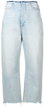 Alexander Wang frayed edges jeans