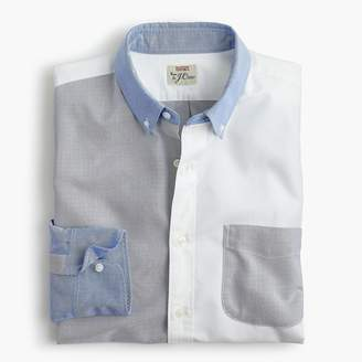 J.Crew Slim American Pima cotton oxford cocktail shirt with mechanical stretch