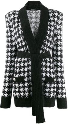 Balmain houndstooth knit cardigan