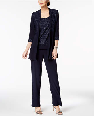 R & M Richards Glitter-Print Pantsuit