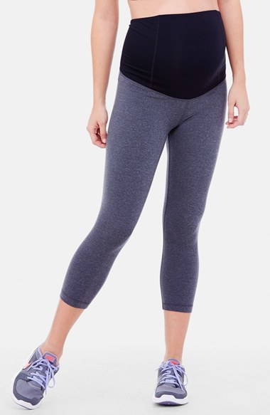 Ingrid & Isabel ® Active Maternity Capri Pants with Crossover Panel