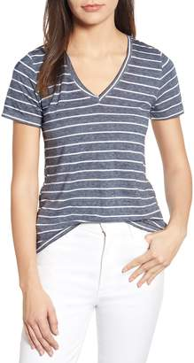 Lucky Brand Stripe Burnout Tee