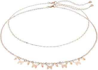 Lauren Conrad Double Strand Butterfly Choker Necklace