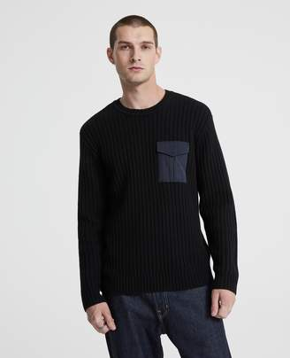 AG Jeans The Delta Woven Pocket Crew