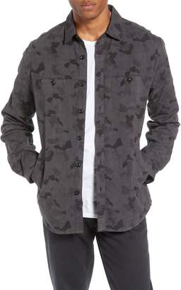 Life After Denim Camouflage Slim Cotton Jacquard Shirt Jacket