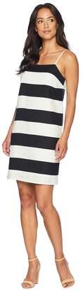 CeCe Spaghetti Stap Carnival Stripe Shift Dress Women's Dress