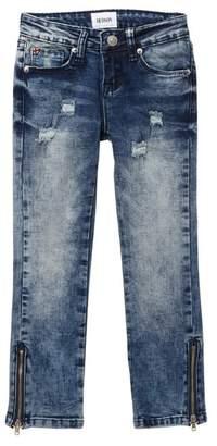 Hudson Jeans Ankle Zip Trim Skinny Jeans (Big Girls)