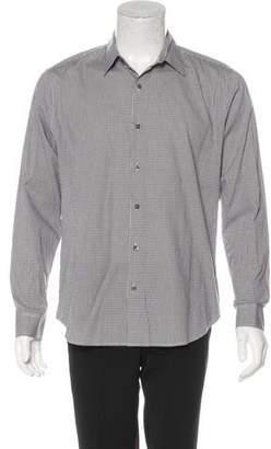 Theory Plaid Woven Shirt