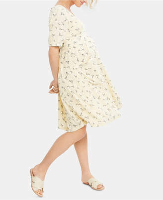 A Pea in the Pod Maternity Button-Front Dress